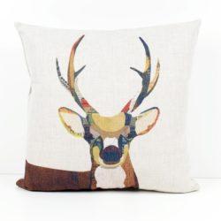 Colorful Painting Deer Head