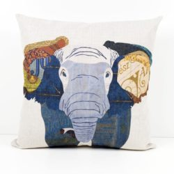 Colorful Painting Elephant Head